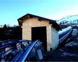 Construction de bâtiments techniques en bois à Saint-Jean-de-Maurienne